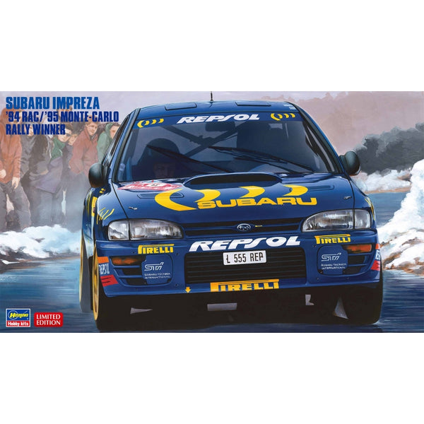 Hasegawa 1:24 20436 Subaru Impreza 94 RAC / 95 Monte Carlo Rally Winner Model Car Kit