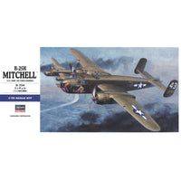 Hasegawa 1:72 017 B-25H Mitchell - US Army Air Force Heavy Bomber Model Aircraft Kit