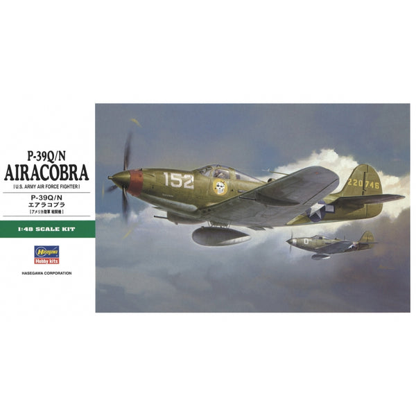 Hasegawa 1:48 JT93  P-39Q/N Airacobra - US Army Air Force Fighter Model Aircraft