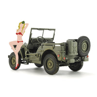 Hasegawa 1:24 SP449 1/4 ton 4×4 Utility Truck With Blonde Girl Figure Model Car Kit