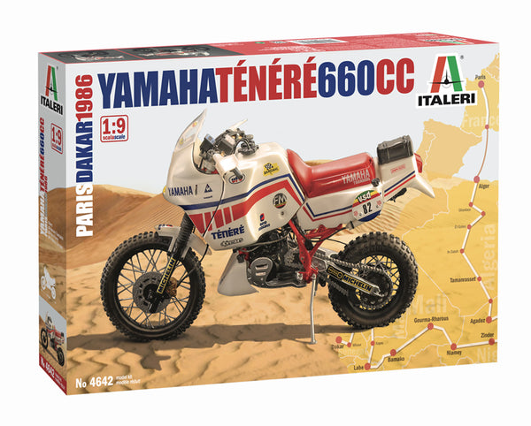 Italeri 1:9 4642 YAMAHA Ténéré 660cc Paris Dakar 1986 Model Motorcycle Kit