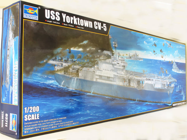 Trumpeter 1:200 03711 USS Yorktown CV-5 Model Ship Kit