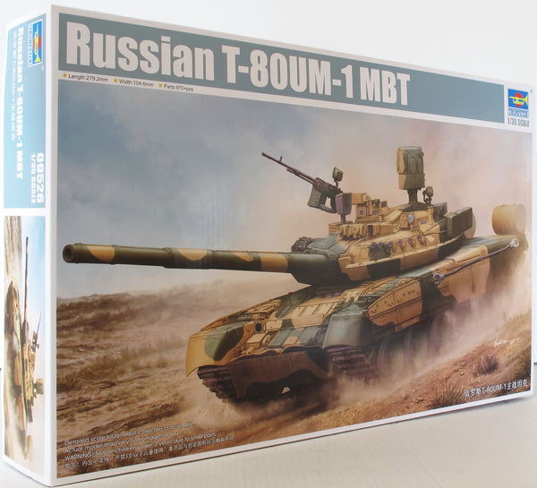 Trumpeter 1:35 09526 Russian T-80UM MBT Military Model Military Kit