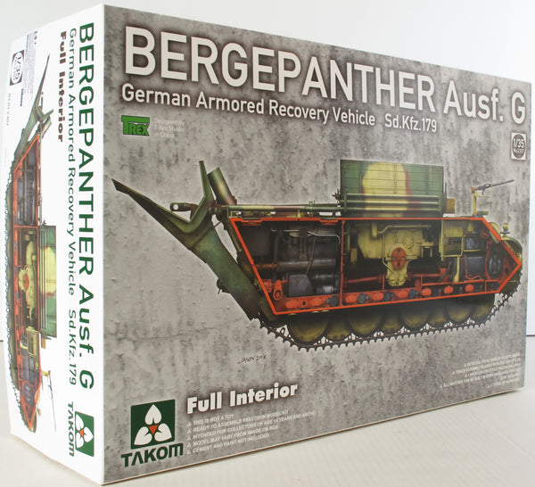 Takom 1:35 02107 Bergepanther Ausf G SdKfz 179 Full Interior Model Military Kit