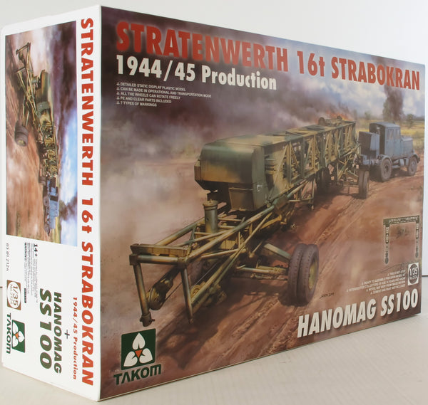 Takom 1:35 02124 Stratenwerth 16t Strabokran 1944/45 w/SS100 Model Military Kit