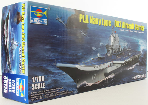 Trumpeter 1:700 06725 PLA Navy Type 002 Aircraft Carrier Model Ship Kit