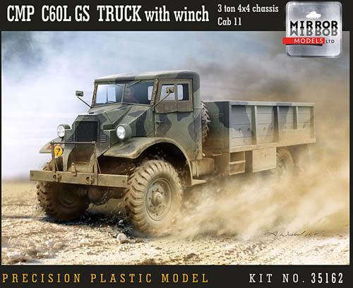 Mirror Models 1:35 35162 CMP C60L GS Truck 3tn 4x4 chas Cab 11 Model Military Kit