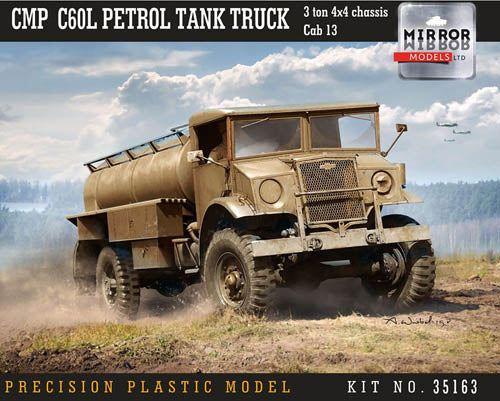 Mirror Models 1:35 35163 CMP C60L Petrol Tank Truck, 3tn 4x4 chas Cab 13 Model Military Kit