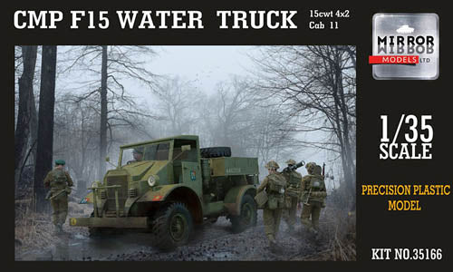 Mirror Models 1:35 35166 CMP F15 Ford Water Truck, 4x2, Cab 11 Model Military Kit