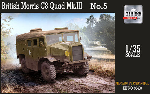 Mirror Models 1:35 35400 British Morris C8 Quad Mk III No 5 Model Military Kit