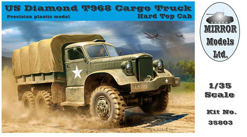 Mirror Models 1:35 35803 US Diamond T 968 Cargo Truck hard top cab Model Militar