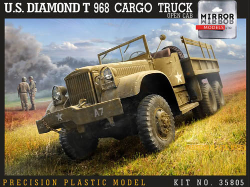 Mirror Models 1:35 35805 US Diamond T 968 Cargo Truck open cab Model Military Kit