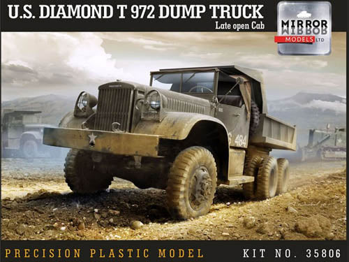 Mirror Models 1:35 35806 US Diamond T 972 Dump Truck Late open cab Model Military Kit