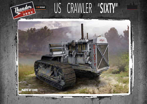 Thunder 1:35 35005 US Crawler Sixty WW2 Caterpillar Tractor Military Model Kit