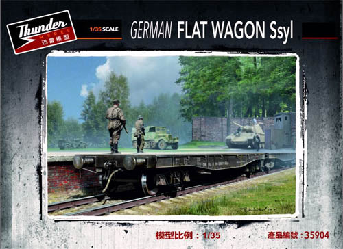 Thunder 1:35 35904 German Ssyl Flat Wagon Military Model Kit
