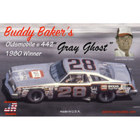 Hasegawa 1:25 SJR1980D  Buddy Baker's Grey Ghost #28 Oldsmobile 442 1980 Winner Model Car Kit