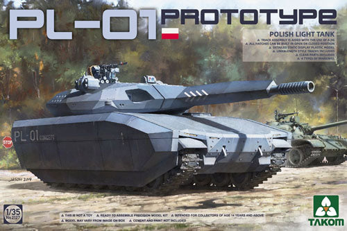 Takom 1:35 02127 Polish PL-01 Prototype Light Tank Model Military Kit