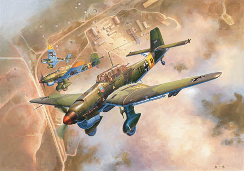 Trumpeter 1:24 02421 Junkers Ju 87B-2 Stuka Model Aircraft Kit