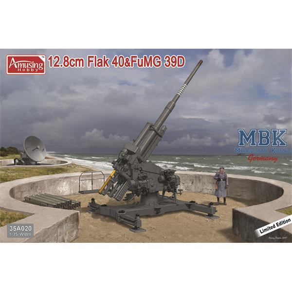 Amusing Hobby 1:35 35a020 12,8cm Flak40 with FuMG 39D Model Military Kit