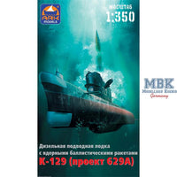 Ark Models 1:350 40018 K-129 U-Boot-Projekt 629 Model Ship Kit