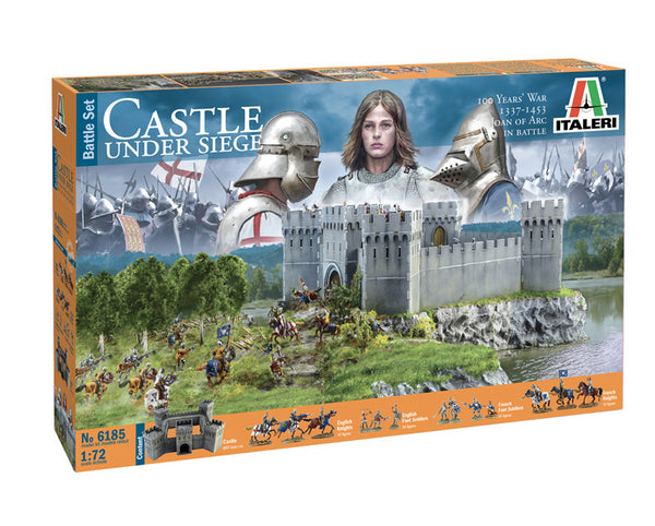 Italeri 1:72 6185 100 Years War Castle Under Siege Battle Set kit