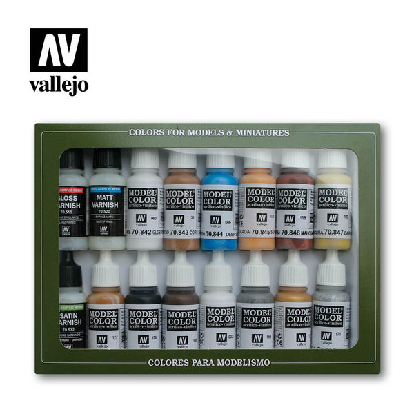Vallejo 70102 Model Colour Set - Folkstone Special 16 Colour Acrilic Paint Set