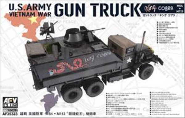 AFV Club 1:35 35323 King Cobra Gun Truck M54 + M113 Model Military Kit
