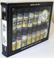 Vallejo 71208  Model Air Set - German WWII Europe & Africa 16 Colour Acrilic Paint Set
