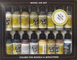 Vallejo 71194 Model Air Set - Weathering Set 16 Colour Acrilic Paint Set