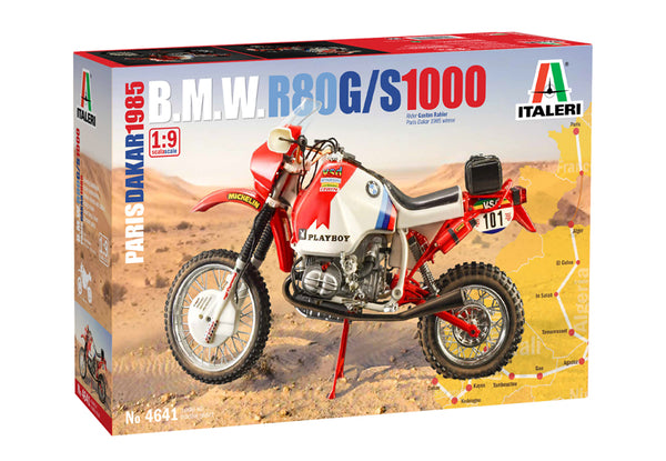 Italeri 1:9 4641 BMW R80 G/S 1000 Paris Dakar 1985 Model Motorcycle Kit