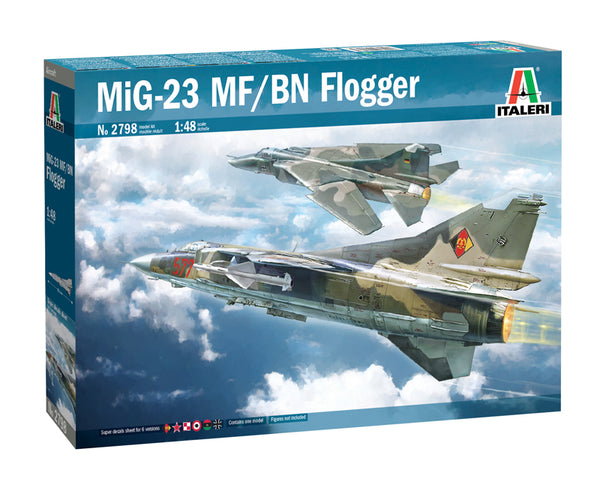 Italeri 1:48 2798 MiG-23 MF/BN FLOGGER Model Aircraft Kit