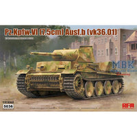 Rye Field 1:35 5036 Panzer VI Ausf. B (VK36.01) Model Military Kit