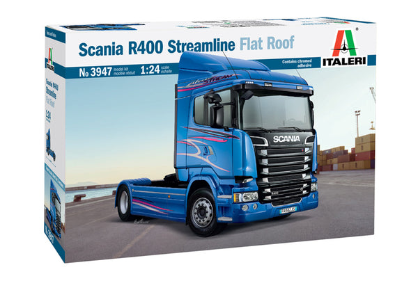 Italeri 1:24 3947 Scania R400 Streamline Flat Roof Model Truck Kit