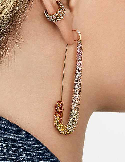 cristal pin earrings