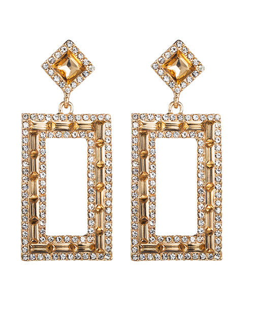 Golden Squares Earrings