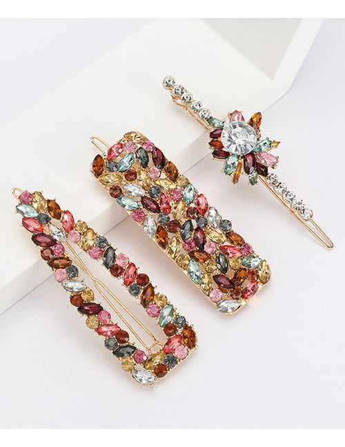 Pink Gems Hair Pin Set