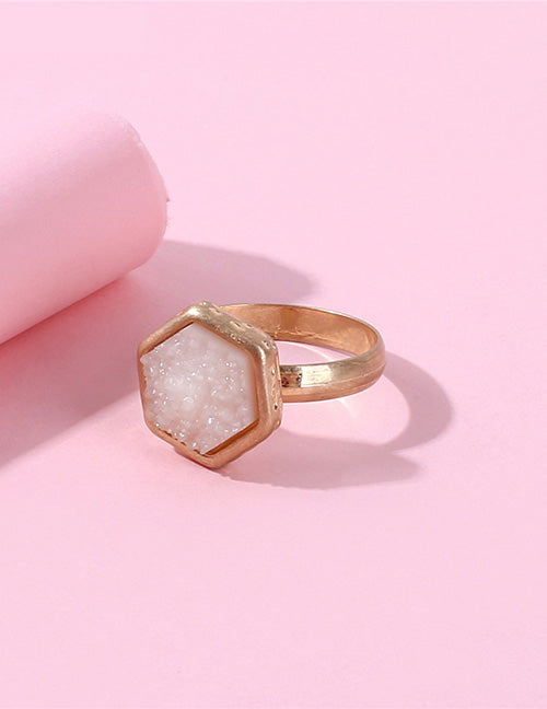 golden rose crystal ring