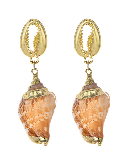 orange shell earrings