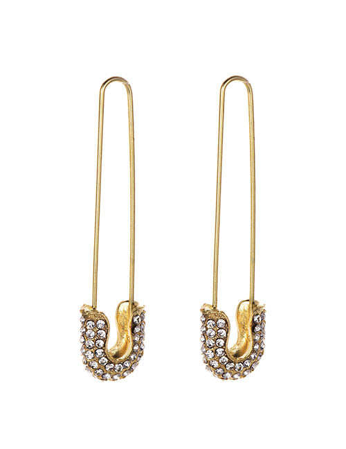 Gold Pin Earrings