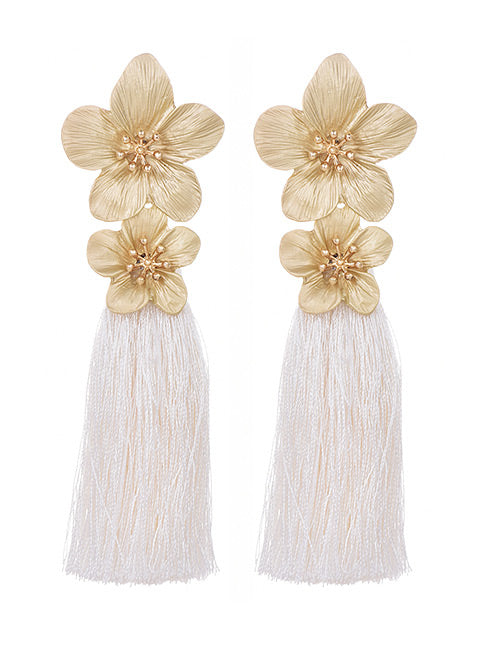 white lilies earrings