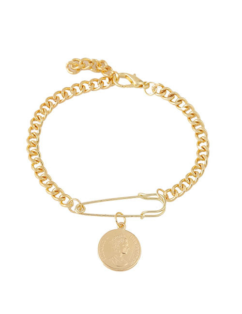 Greek Coin Charm Bracelet