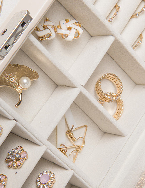 Medium White Jewelry Case