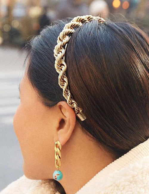 Gold Rope Headband