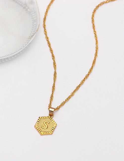 Letter Pendant Necklaces