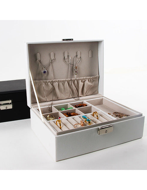 Large White Jewelry Case