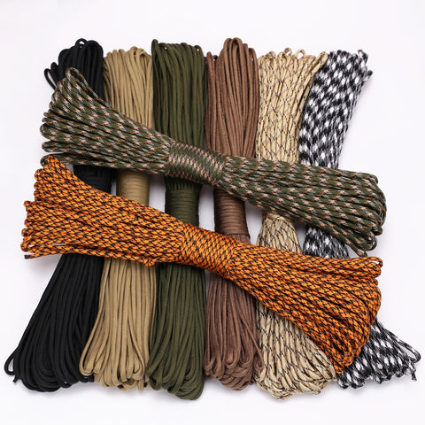 4 Size Dia.4mm 9 stand Cores Paracord for Survival Parachute Cord Lanyard Camping Climbing Camping Rope Hiking Clothesline