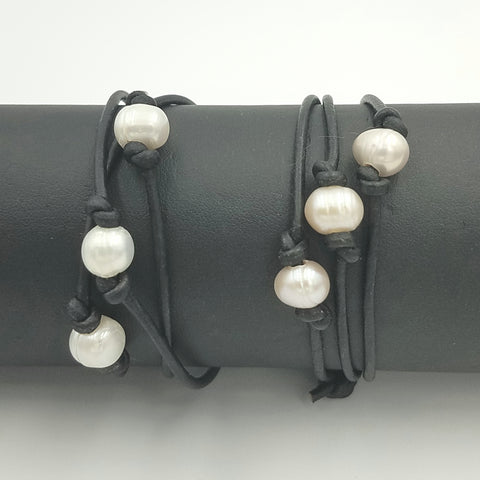 Jewelry Kits To Go!  Freshwater Pearl and Leather Wrap Bracelet