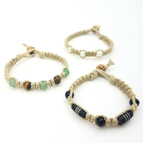 Jewelry Kits To Go!  Macrame Hemp Bracelets