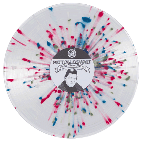 Patton Oswalt - Feelin' Kinda Patton (2nd pressing clear w/blue, green & red splatter vinyl)