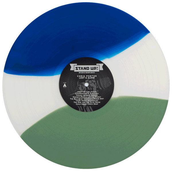 Chris Porter - Lost And Alone (1st pressing blue/white/green striped tri-color vinyl)